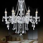 Modern Elegant Crystal Chandelier 6 Ceiling Light Lamp Pendant Fixture Lighting