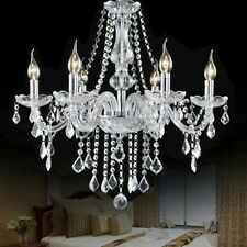Modern Elegant Crystal Chandelier 6 Ceiling Light Lamp Pendant Fixture Lighting