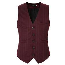 Mens Waistcoat Formal Business Suit Vest Slim Wedding Casual Tuxedo Coat Tops