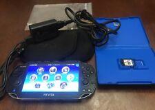 Sony PlayStation PS Vita PCH-1101 Wi-Fi, 3G Black AC Adapter Games 👀 Read Desc