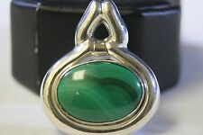 ADORABLE 925 STERLING SILVER MALACHITE PENDANT