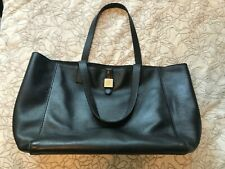 Mulberry Leather Tessie Tote Bag Black Leather Genuine