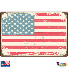 Rugged American Flag Nostalgic Signs & Plaques
