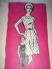 Vintage Marian Martin Printed Pattern 9163 Misses Dress ~ Size 16-1/2
