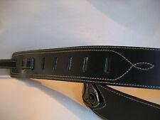 UNIQUE LEATHER BLACK CONCHO DESIGNER GUITAR/BASS STRAP