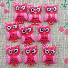 10 Owl Flatback Resin Cabochon Scrapbooking for craft.rose  @