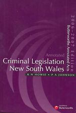Annotated Criminal Legislation New South Wales by R.N. Howie, P.A. Johnson (Pap…