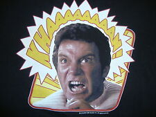 Star Trek Capt James Kirk Wrath of Khan Movie Black T Shirt S