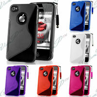 Accessoires Housse Coque Case TPU Silicone S Gel Soupe Apple Iphone 4