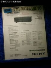 Sony Service Manual Str DA1ES / DB780 Fm/Am Ricevitore (#5202)