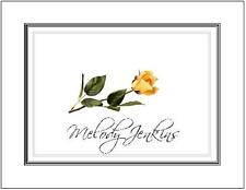 Personalized Flower Notecards ~ Lovely Yellow Rose