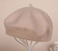 Women Sweet 100% Wool Warm Winter Beret French Artist Beanie Hat Ski Cap Hat
