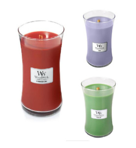 SALE 10% OFF RRP - WoodWick Candle Medium or Large Jars - Various Fragrances
