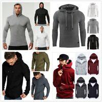 Men Gym Excise Workout Hoodies Wild Pullover Sweatshirt Thin Hoody Tops Sweater