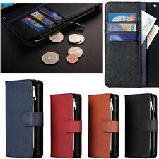 Caro Zipper Wallet Case(Genuine Leather) for LG V30 LG Q6 LG G6 LG G5 LG G4