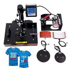 5 Multipurpose Mug Hat Plate Cap T-shirt Heat Press Machine Sublimation Print