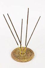 2pc Set Natural Soap Stone Candlestick / Incense Stick Holders (7595-b) 10cm Dia