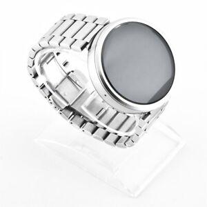 Motorola Moto 360 Smartwatch Metal Edition silber Band Gebrauchtware akzeptabel