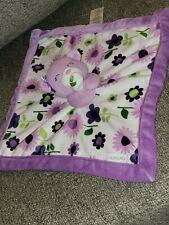 Carter's Bear Flower Baby Lovey Security Blanket Purple Lavender White