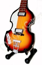 Miniature Guitar PAUL MCCARTNEY with free stand THE BEATLES bass violin