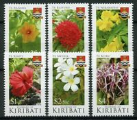 Kiribati Stamps 2017 MNH Flowers of Kiribati Nature Flora Plants 6v Set