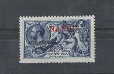 1915/6 Nauru 10/- Indigo Specimen mlh clean nice condition SG 18s nice perfs.
