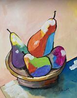 "PAINTING ORIGINAL ACRYLIC ON CANVAS PANEL CUBAN ART 11""X14"" By LISA."