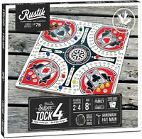 "Bojeux Rustik Super Tock Game for 4 Players - 16"" Board, Multicolor"