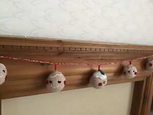 Gingerbread Garland , bunting Great For Xmas Or In A Bedroom Anytime New Handmad