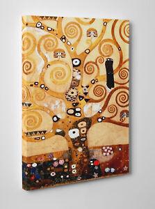 🌳 Quadro Klimt L'Albero della Vita Stampa su Tela Cotone Vernice Pennello 🎨