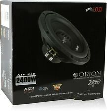 "Orion XTR124D 2400W Peak 600W RMS 12"" XTR Series Dual 4-ohm Car Subwoofer"
