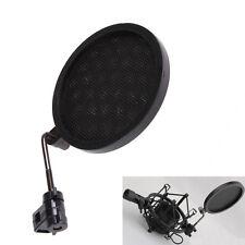 Mic Wind Screen Mask Gooseneck Shied Pop Filter for Microphone Shock Mount Black