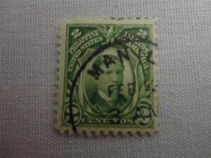 Vintage Philippines 1906 to 1922 2 Cent Postage Stamp
