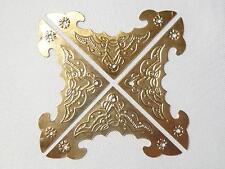 4 Stück Möbelbeschlag Antikbeschlag Eckbeschlag Zierbeschlag  Beschlag gold