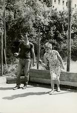 Françoise Prévost et Maurice Poli Vintage silver print,Maurice Poli est un acteu