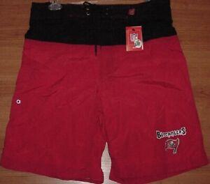 Tampa Bay Buccaneers Bathing Swim Suit Large Trunks Shorts Cargo Pocket NFL