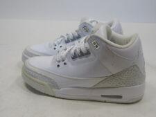 Nike Air Jordan III 3 Retro GS PURE WHITE SILVER ANNIVERSARY CEMENT   SIZE 5 Y