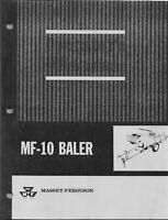 MASSEY FERGUSON  MF 10 Baler Operators Manual 690399M3, 4/79 REPRINT