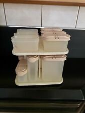 TUPPERWARE Vintage Pink Modular Mates Spice Rack Carousel Set With 14 Containers
