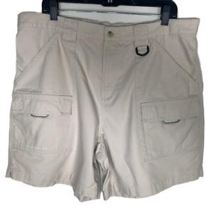 Columbia PFG Womens Khaki Shorts Plus Size 1X Cotton Bottoms Chinos Omni Shade