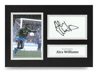 Alex Williams Signed A4 Photo Man City Autograph Display Memorabilia COA
