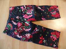 CAKEWALK wunderschöne Stiefelhose blau im Blumenmuster Gr. 116 Wi 09 NEU ST116