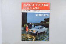 Motor Revue Europa Motor Ausgabe 43 Herbstausgabe 1962