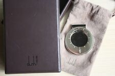 Mint DUNHILL Solid Sterling Silver Money Clip, Watch design, 925, Box, Pouch