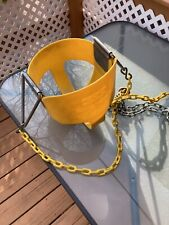 New listing High Back Full Bucket Yellow Infant Swing Seat - Coated Chains - Fully Assembled