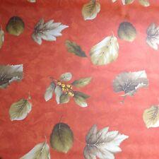 nappe tissu enduit au mètre motif automne 160 de large fin de stock