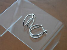 Leverback Sterling Silver Fine Earrings without Stones