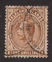 Sc47  / SG79 - Falkland Islands - 1 Sh - KGV - 1921 - Used - superfleas - cv$57