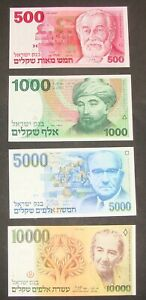 ISRAEL ISRAELI Banknote Lot UNC BEAUTIFUL CONDITION ! 1984