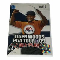Tiger Woods PGA Tour 09: All-Play (Nintendo Wii, 2008) Complete w/Manual CIB
